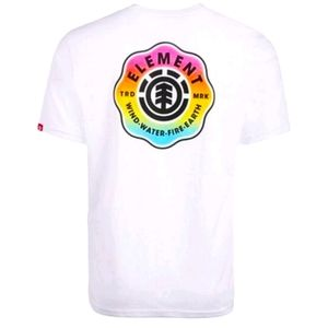 Element Mens T-shirt Classic Pure White Graphiclog